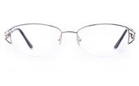 Vista First 1108 Stainless Steel Womens Oval Semi-rimless Optical Glasses