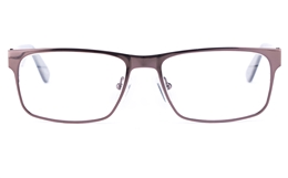 Vista First 1624 Stainless Steel/ZYL  Mens Square Full Rim Optical Glasses for Fashion,Classic,Nose Pads Bifocals