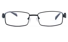 Poesia 6634 Stainless Steel/PC Mens&Womens Rectangle Full Rim Optical Glasses