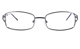 Poesia 6631 Stainless Steel Womens Square Full Rim Optical Glasses for Fashion,Party,Nose Pads Bifocals