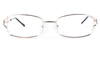 Poesia 6631 Stainless Steel Womens Square Full Rim Optical Glasses