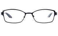 Poesia 6636 Stainless Steel/PC Womens Cat eye Full Rim Optical Glasses