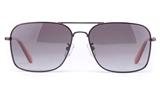Vista Sport P1333 Stainless Steel Mens Square Full Rim Sunglasses