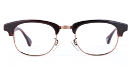 Vista First 1628 Stainless Steel/ZYL  Mens Womens Round Full Rim Optical Glasses for Fashion,Classic,Party,Nose Pads Bifocals