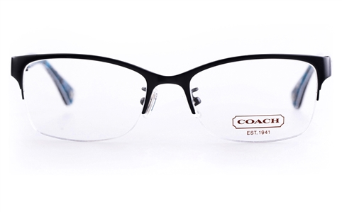 Coach Rimless Eyeglass Frames : Coach HC5038 Acetate Womens Cat eye Semi-rimless Optical ...