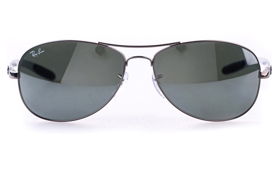 Ray-Ban RB8301 Stainless steel Mens Oval Full Rim Sunglasses
