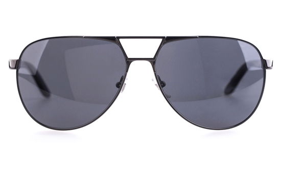 Versace VE2142 Stainless steel/Acetate Mens Oval Full Rim Sunglasses