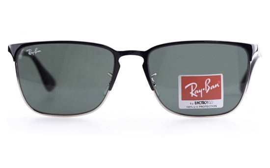Ray-Ban RB3508 Stainless steel Mens Square Full Rim Sunglasses