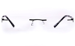 Vista First LT689-1 TITANIUM Mens Womens Rectangle Rimless Optical Glasses for Fashion,Classic,Nose Pads