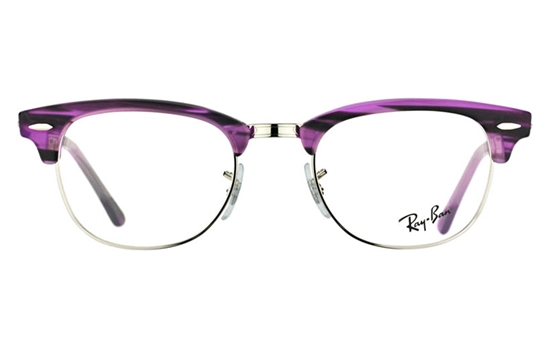 ray ban clubmaster acetate and  ray ban 0rx5154 club master acetate mens & womens full rim optical glasses(purple striped(5257))