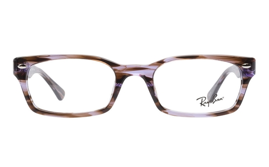 ray ban optical glasses n68s  Ray-Ban 0RX5150 Acetate Mens & Womens Full Rim Optical GlassesPurple  Striped5165