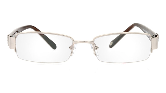 Vista First 1065 Stainless Steel/ZYL Half Rim Mens Optical Glasses