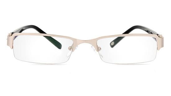 Vista First 1060 Stainless Steel/ZYL Half Rim Womens Optical Glasses