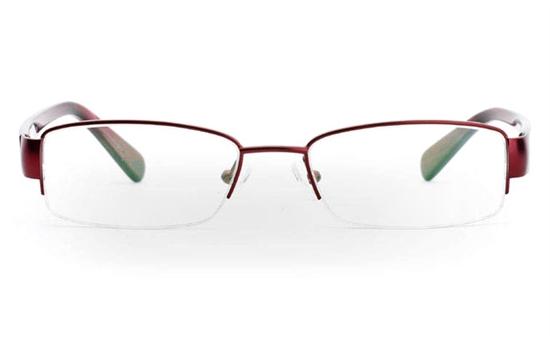 6113 Stainless Steel Half Rim Womens Optical Glasses