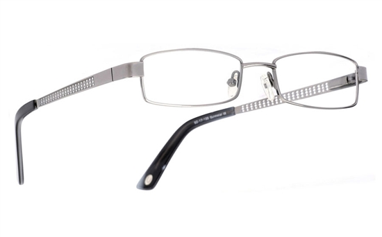 Poesia 1005 Stainless Steel/ZYL Full Rim Mens Optical Glasses